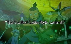 Korra learned something from Sokka.