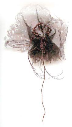 Emmanuelle Dupont Textile Sculpture, Art Textile, E Textiles, Prada Candy, Geometric Fashion, Insect Art, Fibre Art, Felt Art, Embroidery Art