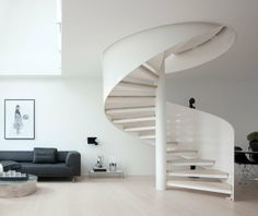spiral stairs in a Copenhagen apartment Interior Stairs, Interior Architecture, Interior And Exterior, Home Fashion, My Dream Home, Living Spaces, Interior Decorating, Sweet Home, House Design