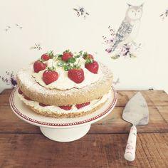 Ashley Thomas Design: Swiss Wild Strawberry & Walnut Cake