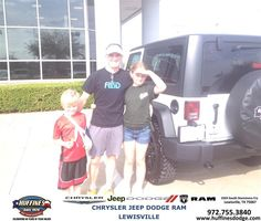 #HappyAnniversary to James Dillion on your 2014 #Jeep #Wrangler from Ron Sherrill at Huffines Chrysler Jeep Dodge Ram Lewisville!