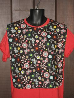 Flowers and Butterflies Summer Time Ladies XL Adult Bib by Tammysaprons on Etsy