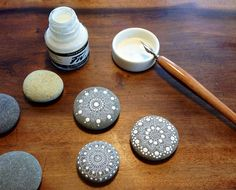 Mandalas on Pebbles by MagaMerlina, via Flickr