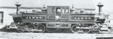 "Lehigh Valley Railroad . Fairlie 0-6-6-0  locomotive ""Janus"" ,  Built by the Mason Machine Works in Taunton, Mass. in 1871."