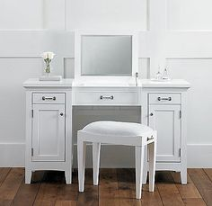 I want a vanity so bad..but I want one with lights built in or someway to attach them...