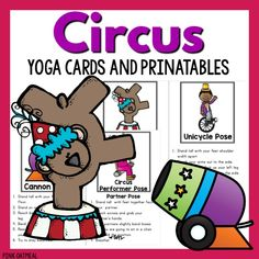 Circus Yoga Circus themed yoga cards and printables are great to use with kiddos to get them moving during the day. The cards have fun pictures to describe the pose with a description of how children can get in the pose. PERFECT TO GO ALONG WITH A CIRCUS UNIT! Want pictures of the kids in...Read More