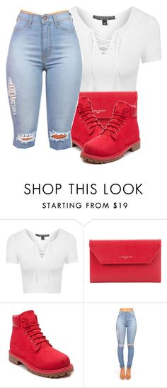 """"" by moenasha ❤ liked on Polyvore featuring Topshop, Lancaster and Timberland"