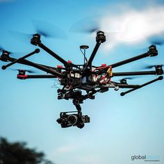 Look at one of our professional #drone #DJI #S1000 during a flight.