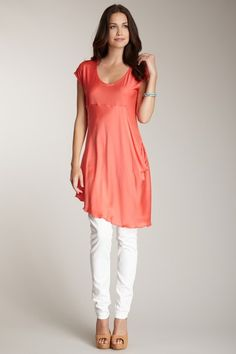 Draped Silk Tunic Top by My Tribe on @HauteLook