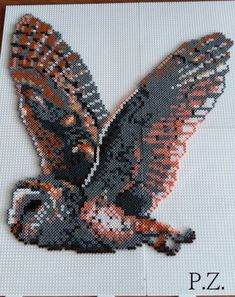 Owl hama mini beads by Piazobel100                                                                                                                                                                                 More