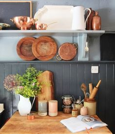 Former fashion designer Helen James talks about bringing Brooklyn style to her rambling country abode in Castlepollard. Brooklyn Style, Hgtv, House Tours, Floating Shelves, Sweet Home, Colours, Bird, Canisters, Cupboard