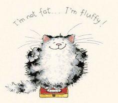Cross-stitch I'm Not Fat.. I'm Fluffy!, part 1... Gallery.ru / Фото #29 - cats 2 - esstef4e