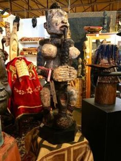 """Ibo Female African Figure On Sale   West Central Africa   30"""" High x 9"""" Wide x 9"""" Deep   Was $1950 Sale Price $975  Tribal Art and Accessories  Dealer #135  @ Lost. . .Antiques 1201 N. Ri"""