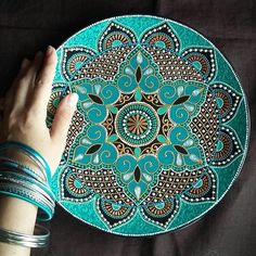 """654 Likes, 17 Comments - Mandala Life ART by Rafi Baba (@mandalalifeart) on Instagram: """"Amazing plate by @a.nureeva """"It is your life. Don't let anyone make you feel guilty for living it…"""""""