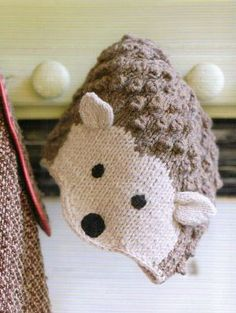 Cute hedgehog hat pattern from laughinghens.com