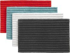 vertical stripe bath rugs    CB2