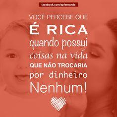 Qual a maior riqueza da sua vida? #Rica #Rico #Riqueza #Prosperidade #Valor #Preço #NãoTemPreço #Família #Amor #Filhos #Sabedoria #Gratidão #Conquista #Sucesso #Patrimônio #Vida #Life