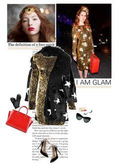 """glam"" by helena99 ❤ liked on Polyvore featuring Dolce&Gabbana, MICHAEL Michael Kors, STELLA McCARTNEY, PUR, Rimini, Lanvin, dolceandgabbana, stars, Sequins and palomafaith"