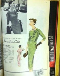 1957 Vogue Patterns catalog page. #voguepatterns #vintagepatterns