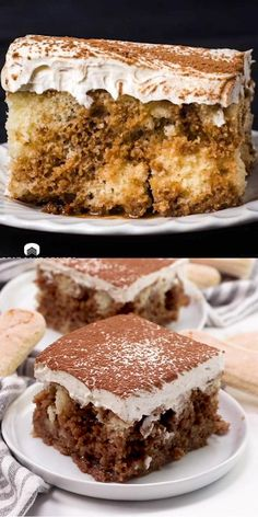 An easy dessert with coffee flavored liqueur infused inside and a creamy whipped frosting on top. Love tiramisu but hate all the work? This easy Tiramisu Poke Cake with Kahlua is easy and delicious! Tiramisu Poke Cake Recipe, Poke Cake Recipes, Poke Cakes, Homemade Cake Recipes, Best Cake Recipes, Poke Recipe, Recipe Recipe, Layer Cakes, Köstliche Desserts