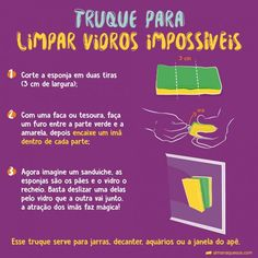 Limpeza Diy Cleaning Products, Cleaning Hacks, Domestic Cleaning, Flylady, Desperate Housewives, Life Organization, Home Hacks, Healthy Habits, Housekeeping