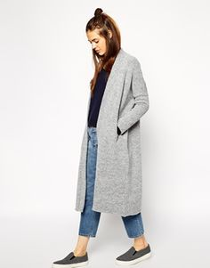 Enlarge ASOS Maxi Cardigan in Brushed Yarn