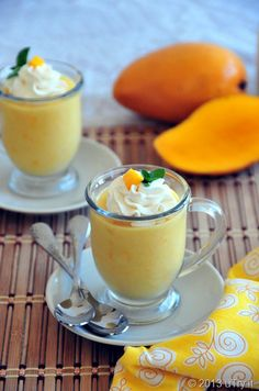 My all time childhood favorite:  Mango Pudding (芒果布丁)  http://utry.it