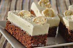 Čokoládová torta s kokosovým krémom Vegan Desserts, Fun Desserts, White Chocolate Cupcakes, Chocolate Cake, Romanian Desserts, Cake Recipes, Dessert Recipes, Cheesecake, Square Cakes