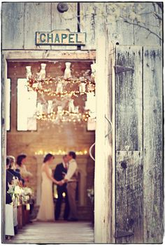 "Cute idea to make a sign that says ""chapel"" even for an outdoor setting to point guests to the proper area"