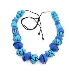 Eco friendly jewelry art necklace made out by HandmadeJewelryEgeo