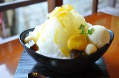 Japanese shaved ice mango ~ yum want this right now