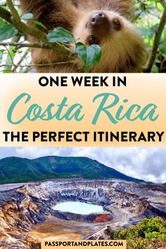 Planning a trip to Costa Rica? This is the perfect one week Costa Rica itinerary for first time visitors, covering ALL the highlights! | Costa Rica Travel Guide | Costa Rica itinerary | Costa Rica one week itinerary | Costa Rica in 7 days | one week in Costa Rica | 7 days in Costa Rica | best things to do in Costa Rica for your first time visiting | Costa Rica travel tips | How to plan the perfect Costa Rica itinerary | what to do in Costa Rica