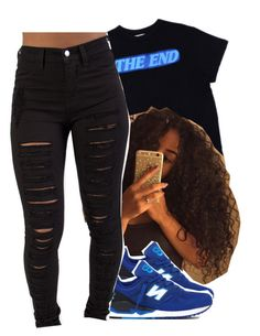""""""""""" by jchristina ❤ liked on Polyvore featuring New Balance"""