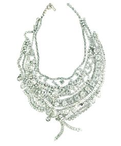 Rhinestone vintage necklaces.