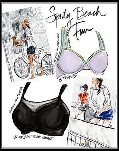 1d38419f0ea Tina Wilson Fashion Illustrations b.tmept d active sports bra  amp  curvy  couture