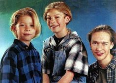 Back in the day they were just little blonde boys who loved plaid.