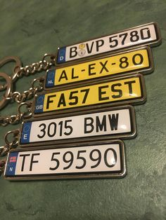 Personalized Metal Keyring Personalized Gift Name Keyring Number Plate Keyring Custom Metal Keychain Accessories Gift For Him