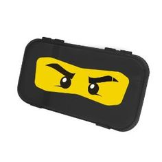 Ninjago Pencil Case - I am totally going to make these! I can buy pencil boxes for $.50 right now in the Back to School section at Walmart. Print out eyes, cover with contact paper and voila! This is a much more practical and reusable favor box than the other options I've found.