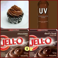 Chocolate Cake Pudding Shots  1 small Pkg. chocolate instant pudding  3/4 Cup Milk 3/4 Chocolate Cake Vodka  8oz tub Cool Whip  Directions 1. Whisk together the milk, liquor, and instant pudding mix in a bowl until combined. 2. Add cool whip a little at a time with whisk. 3.Spoon the pudding mixture into shot glasses, disposable shot cups or 1 or 2 ounce cups with lids and place in freezer for at least 2 hours
