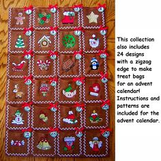Merry Little Christmas Collection of Machine Embroidery Designs - $19.99 : Golden Needle Designs, Great machine embroidery designs