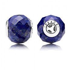 Pandora Essence silver and Lapis Charms Peace