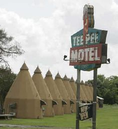 The Tee Pee Motel is at 4098 North U.S. 59 in Wharton, Texas, about 50 miles southwest of Houston.