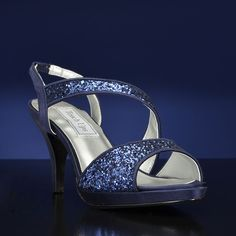 """Reagan-4125"" by Touch Ups. The 2 1/2 inch heel with the platform is sure to make any brides walk down the aisle smooth and comfortable.  Available in silver, gold or navy.  Sizes 5-11. $65.00. http://www.bridalshoes.com/REAGAN-4125"