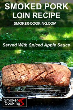 Seasoned with a flavorful rub and smoked with apple wood chips, this smoked pork loin recipe includes the finishing touch of a tasty cinnamon-apple sauce topping. #porkloinrecipes #smokedporkloin #porkrecipes #smokedpork #smokerrecipes #smokercooking Apple Recipes, Pork Recipes, Pork Dry Rubs, Smoker Cooking, How To Cook Pork, Apple Sauce, Smoked Pork, Smoker Recipes, Pork Loin