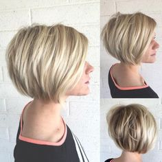 100 Mind-Blowing Short Hairstyles for Fine Hair Layered Bronde Balayage Bob Stacked Bob Hairstyles, Haircuts For Fine Hair, Hairstyles Over 50, Cool Hairstyles, Men's Hairstyle, Glasses Hairstyles, Wedding Hairstyles, Formal Hairstyles, Fringe Hairstyles