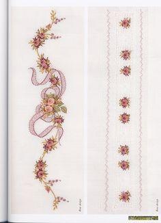A selection of … - Stickerei Ideen Embroidery Flowers Pattern, Cute Embroidery, Beaded Embroidery, Flower Patterns, Embroidery Stitches, Embroidery Designs, Applique Monogram, Hand Applique, Brazilian Embroidery