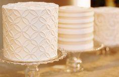 Southern Weddings Magazine: Beautiful Shabby Chic White Wedding Cake Patterns by Elisabeth Millay