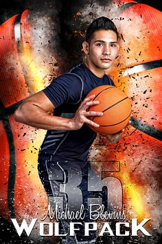 Player Banner Sports Photo Template - Basketball Inferno