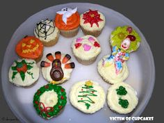 Decorated cupcakes from my cake decorating class