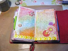 A Palette Full of Blessings. Journal Pages in my fauxdori.